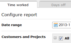 Reports configuration